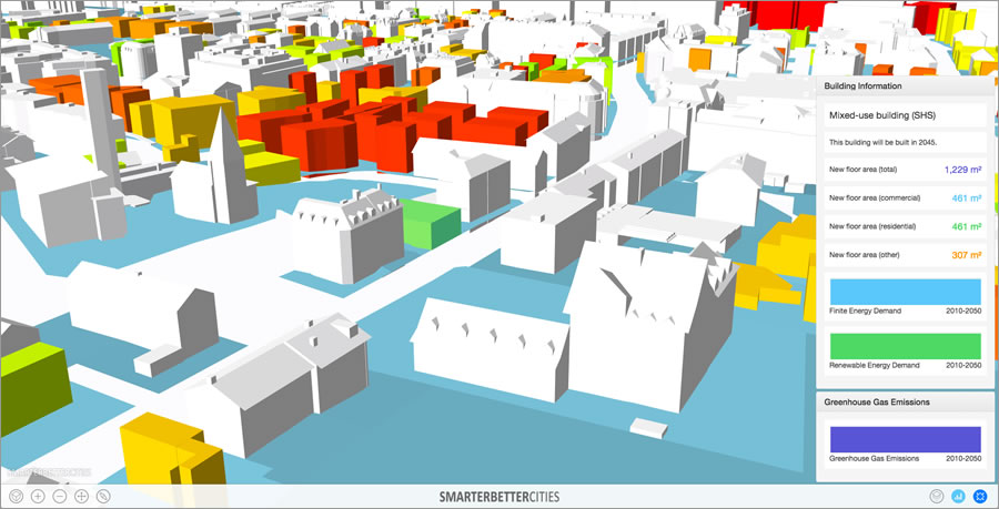 SmarterBetterCities uses 3D to enable cities to visualize carbon and energy performance.
