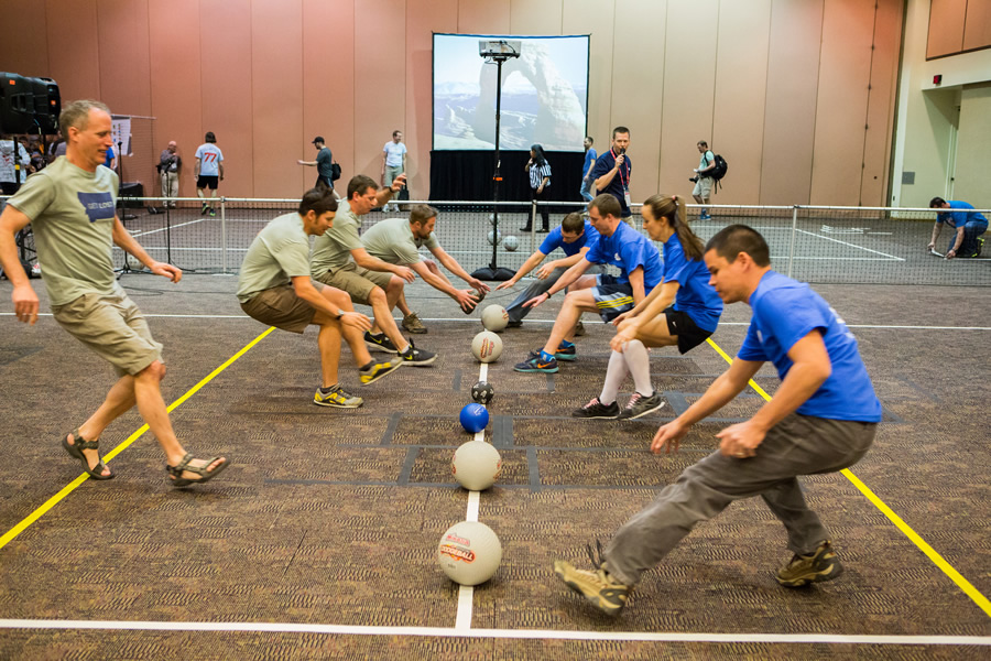 Dodgeball returns to the Esri DevSummit. Get your game face on!