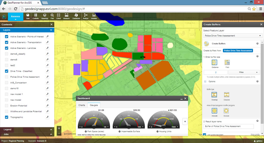 Geoplanner for ArcGIS gives planners the tools to collaborate on designs.