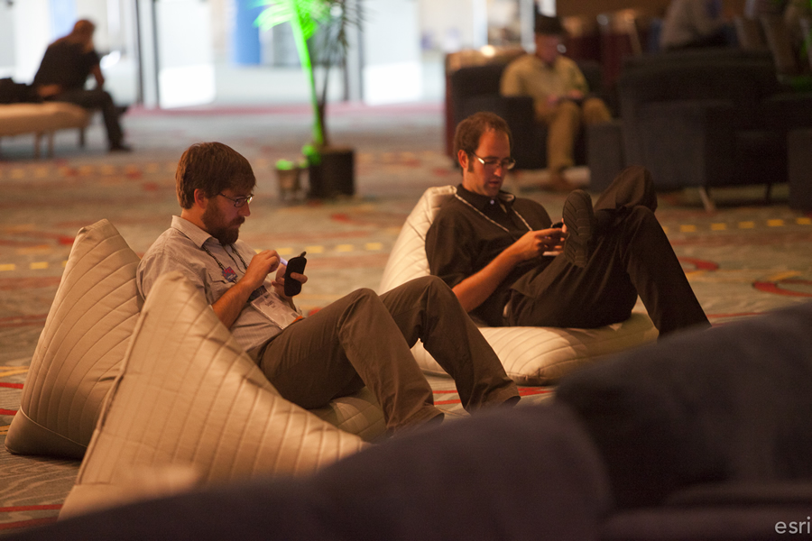 Take a break from the hustle and bustle of the Esri User Conference inside the GeoLounge.