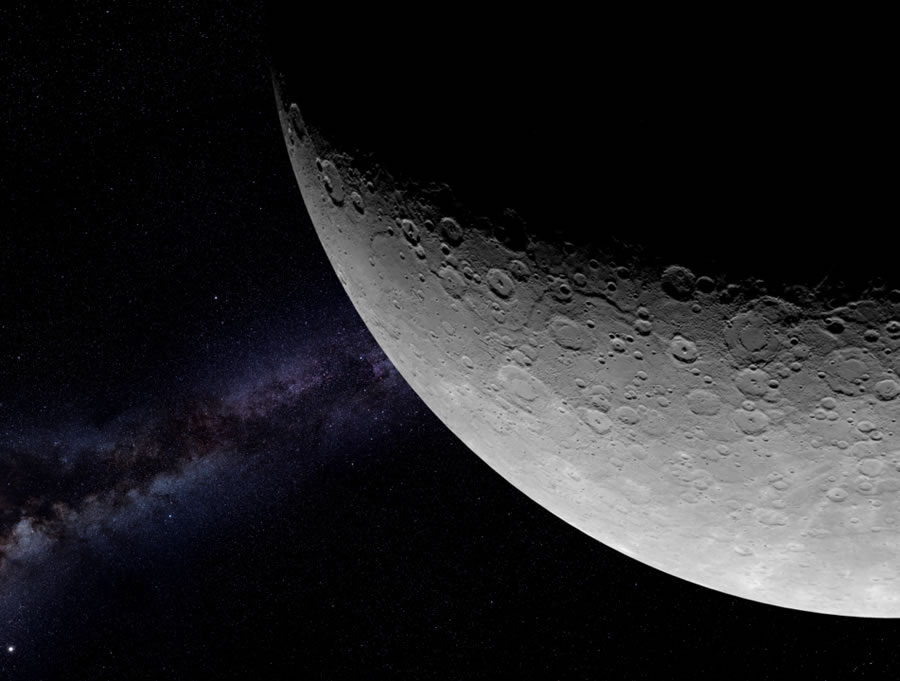 Taken by MESSENGER's Mercury Dual Imaging System, this image shows Mercury's cratered surface half-bathed in light, increasing the contrast and detail in its craters and tectonic landforms. (Image Credit: NASA/Johns Hopkins University Applied Physics Laboratory/Carnegie Institution of Washington)