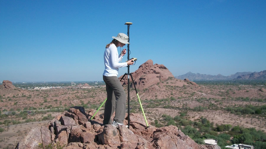 Nixon mapped the plant collection right to the top of the 150-foot butte, where saguaros have been planted in the past and grow naturally on the rocky surface.