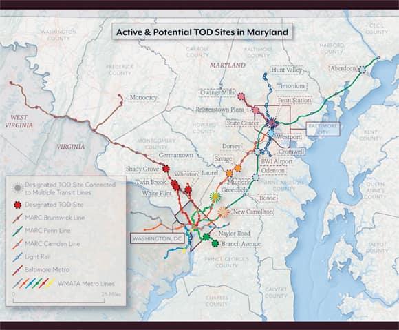 Transit-oriented development sites