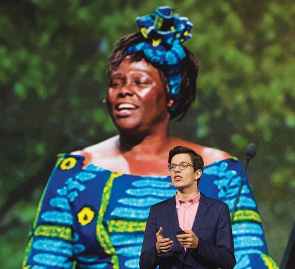 Felix Finkbeiner and Wangari Maathai
