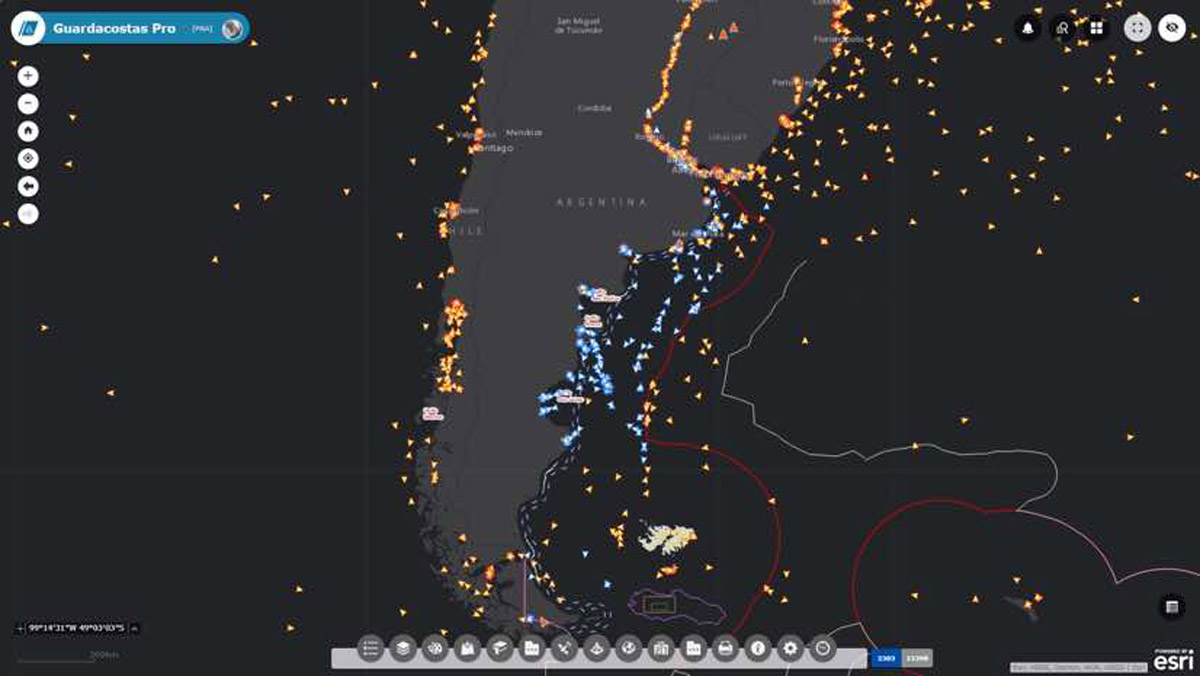 New system uses sensors and satellite imaging to track vessels in real time.