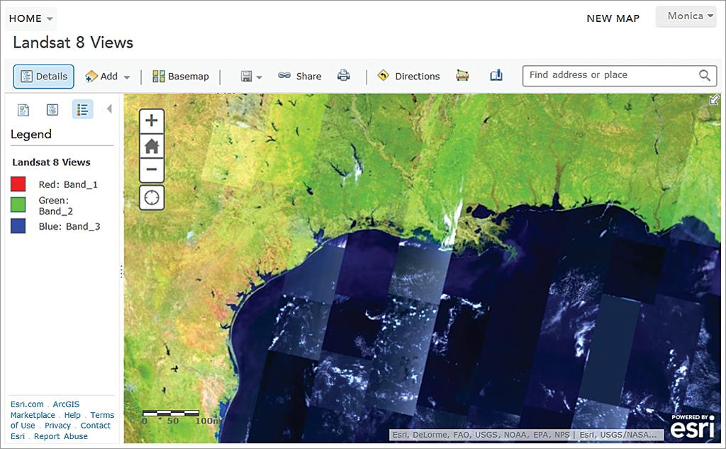 Current Landsat 8 Image Services in ArcGIS Online