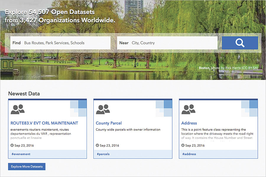 It takes only a few minutes on ArcGIS Open Data to enable, build, and publish a site.