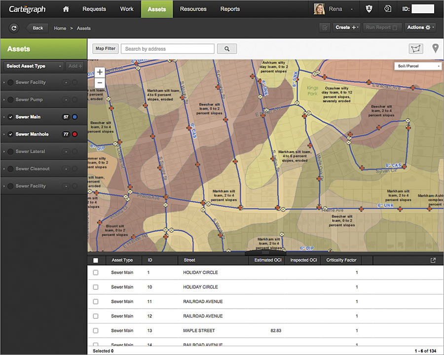 The new Cartegraph-Esri connection enables local governments to better integrate operations management workflows with spatial analysis.