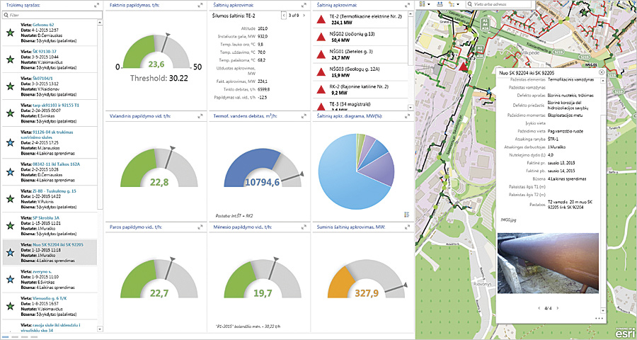 With Collector for ArcGIS, crews at Vilnius Energy report information from the field into the company's dashboard faster and more accurately.