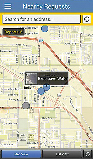The EveryDrop app engages citizens by giving them an easy way to report water waste.