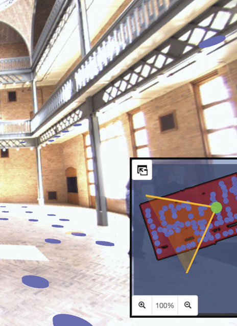 Indoor Reality documents indoor spaces in a sequenced process to generate 3D floor plans that can be imported into ArcGIS Pro and ArcGIS Online.