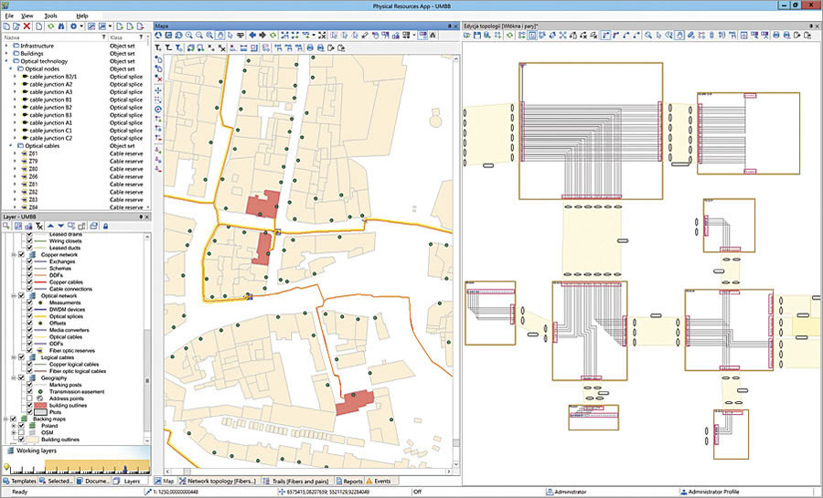With SunVizion Network Inventory, which works with ArcGIS 10.3 for Server, all entities engaged in operating a broadband network have access to data with multiple levels of detail.