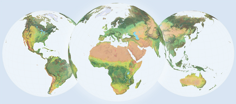 Using the Global Ecological Land Units map and the data behind it, scientists, planners, conservationists, and the public can access information about the environment using a common framework, a common language, and a common spatial unit.