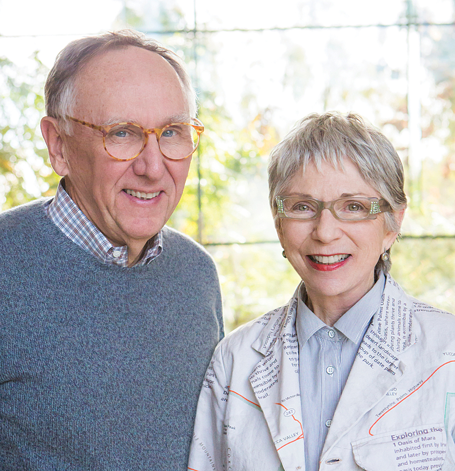 Esri founders Jack and Laura Dangermond.