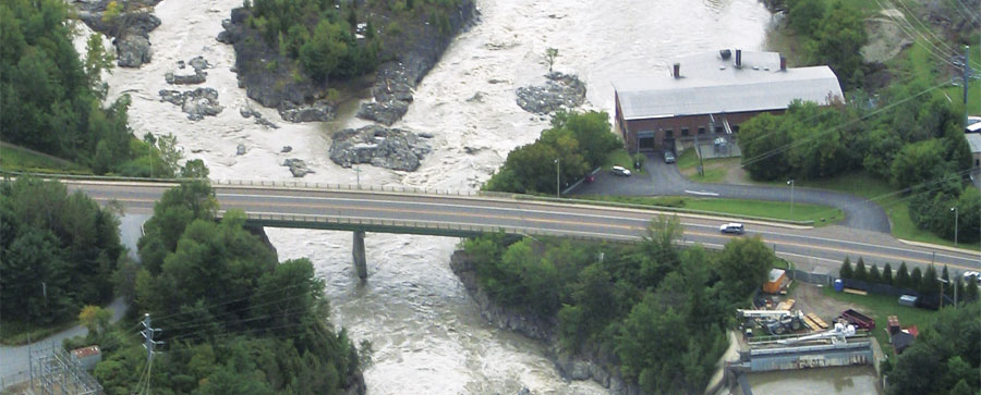 For 24 hours in August 2011, Tropical Storm Irene dumped buckets of rain on Vermont, causing nearly $800 million in damages. (Photo courtesy of Staci Pomeroy.)