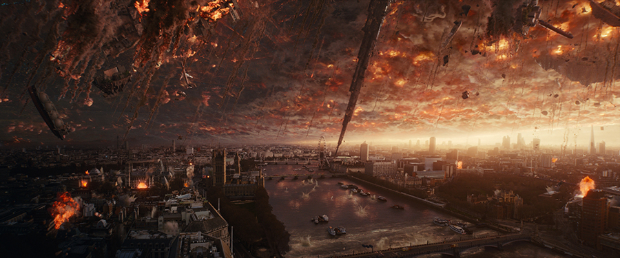 A 3D replica of London was also built for the movie. (Copyright 2016 20th Century Fox.)