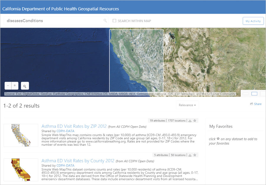 The California Department of Public Health has a long history of distributing public maps and geospatial data.