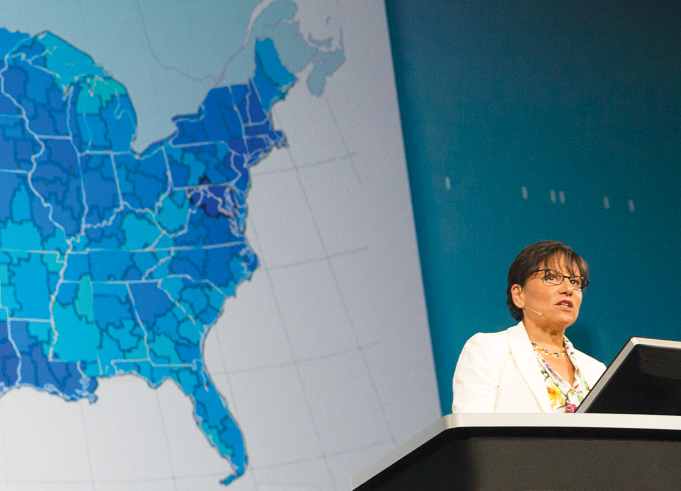 US Secretary of Commerce Penny Pritzker spoke at the 2014 Esri User Conference, where she announced her plan to convene a council of technology leaders to advise the department on open data.
