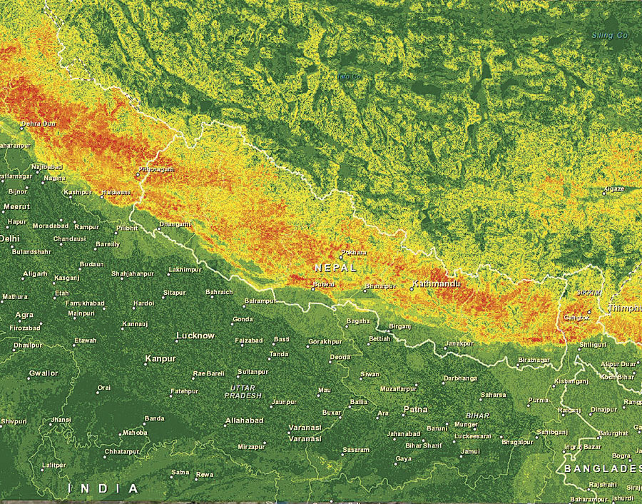 Immediately following the April 2015 earthquake in Nepal, NGA opened a public website to share unclassified geospatial data, products, and services.