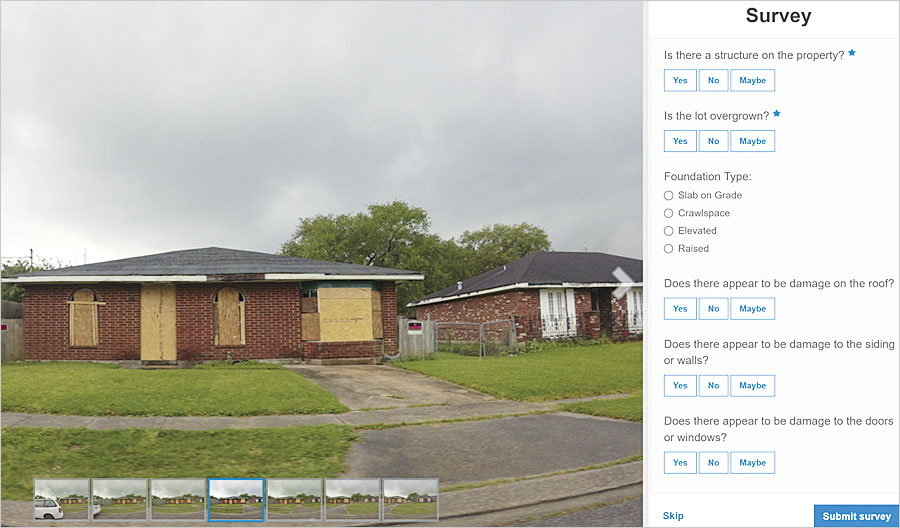 The City of New Orleans' BlightStatus crowdsourcing web app enlists citizens to report blight while educating them about the blight remediation process.