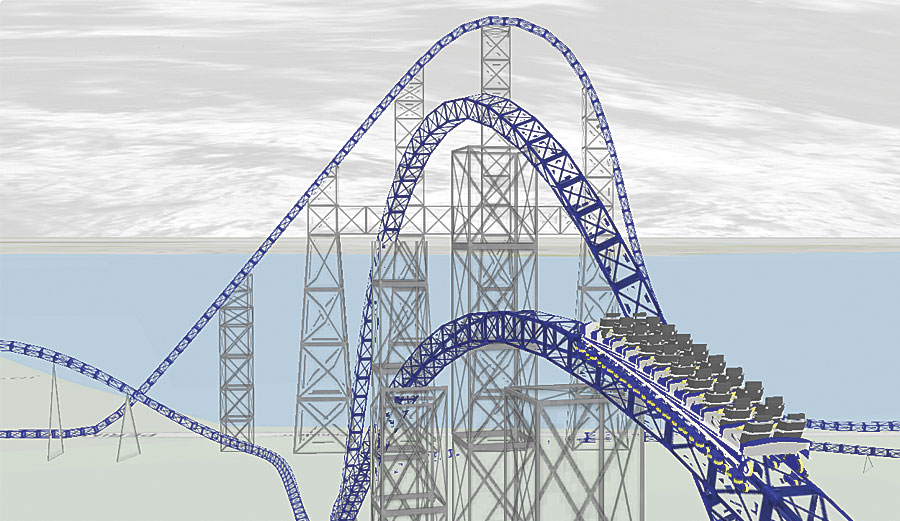 Use animations in ArcGIS Pro to ride along with a roller coaster.