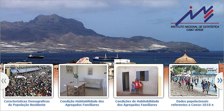 Highlights from Cape Verde's census data are available to the public via a scrolling image gallery.