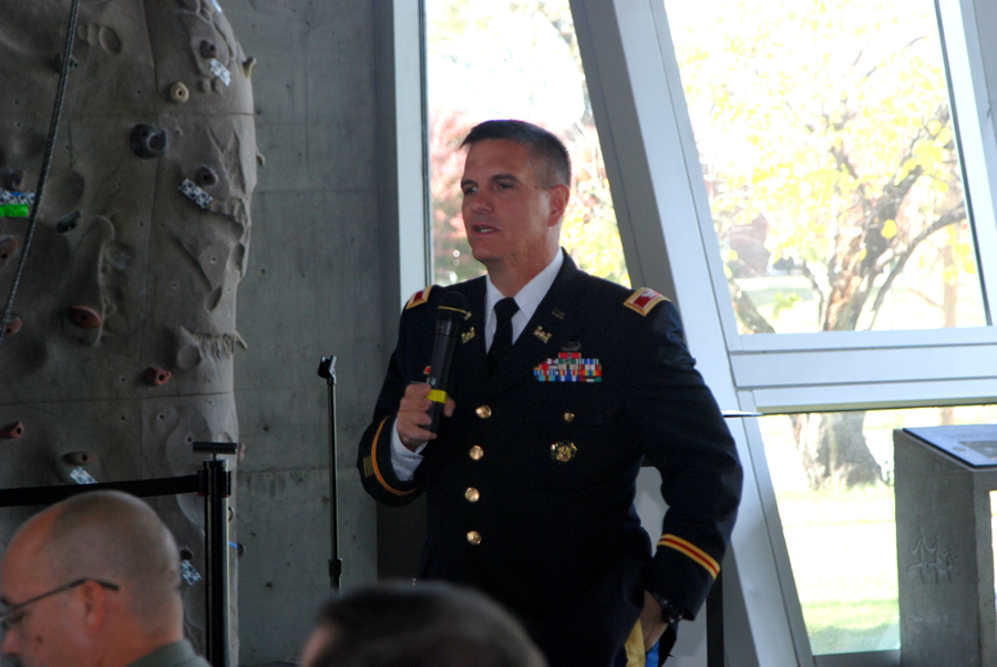 Colonel Jeffery Anderson from the US Army Corps of Engineers spoke in Memphis, Tennessee, about the role of GIS in the corps' work.