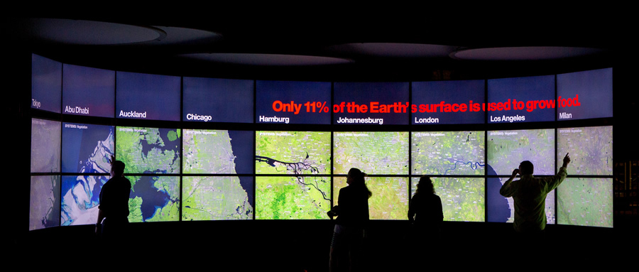 A land use comparison for nine cities is displayed in the Urban Observatory.