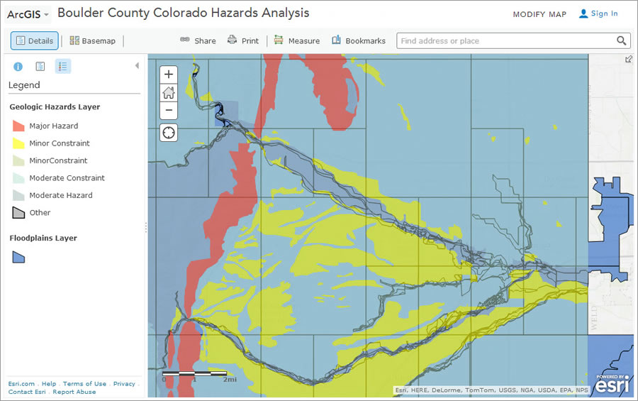 In the role of GIS analyst, you will map the risk of flooding and mudslides in Colorado.