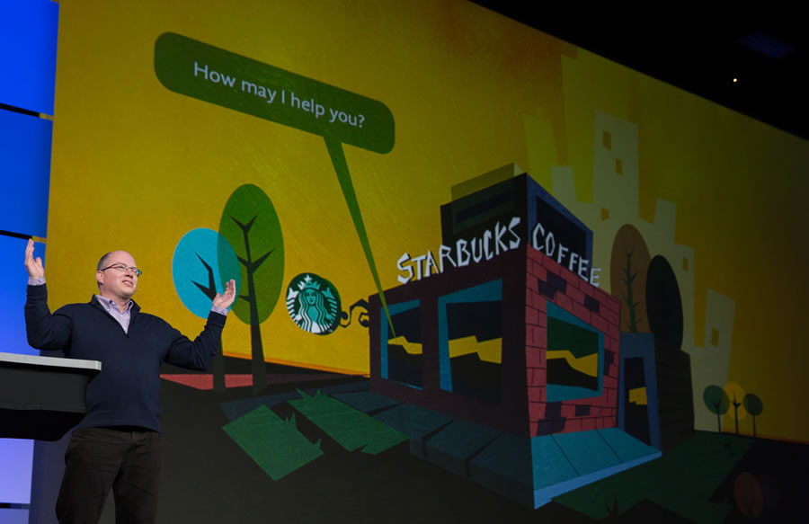 "Laurence Norton of Starbucks said the coffee company ""started big with GIS."" Today the technology is used in site selection, sales, and marketing."