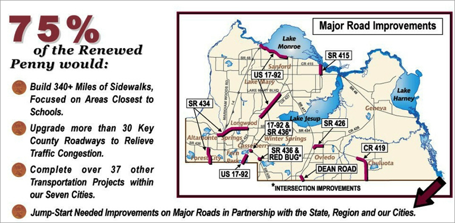 Maps were in brochures printed before a 2001 sales tax referendum.