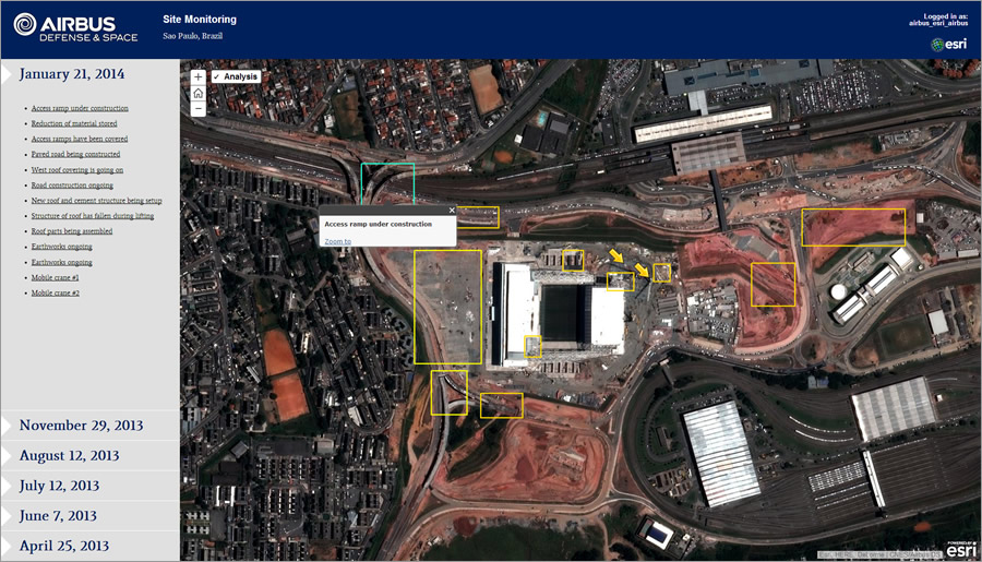 This AirBus app helps you monitor a site on a regular basis.