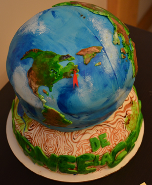 Earth cakes are a popular GIS Day treat.