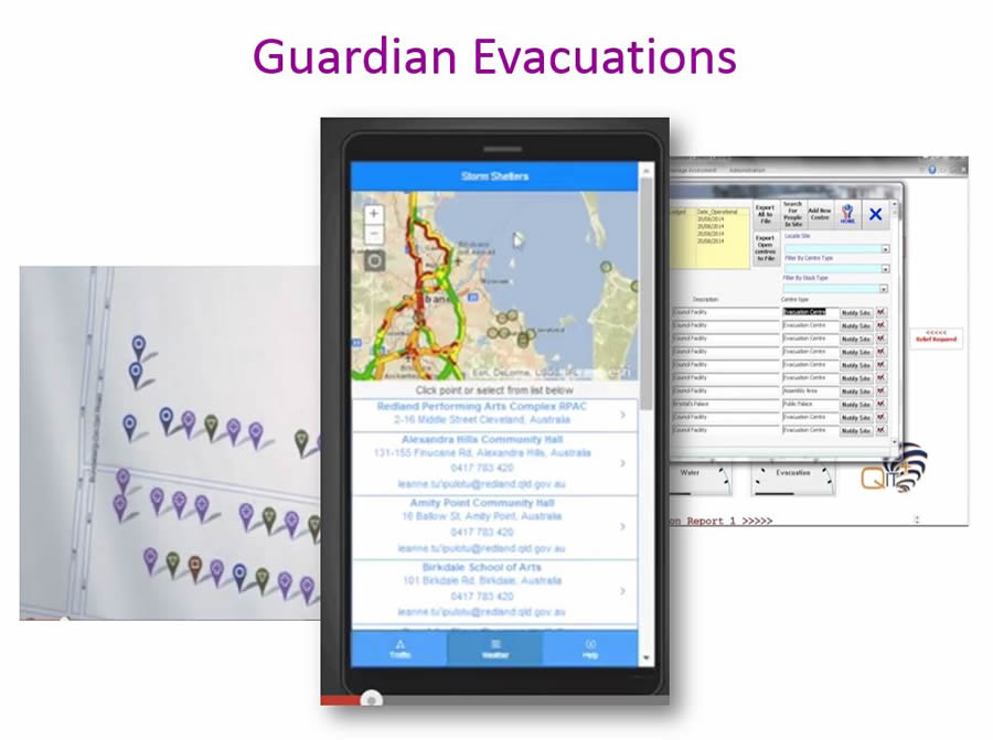 If a flood or other disaster occurs, people can use the Guardian Evacuations app to find the closest evacuation center.