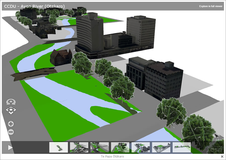 3D scenes were an integral part of the winning Christchurch Central Recovery Plan story map.