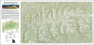 Map of the High Uintas Wilderness Area in Utah
