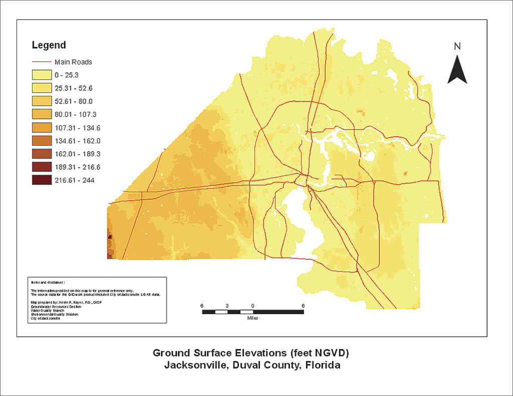 Jacksonville Fl Elevation Map From Paper Maps to Accessible GIS Data