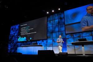 ArcGIS program manager Jim McKinney at DevSummit