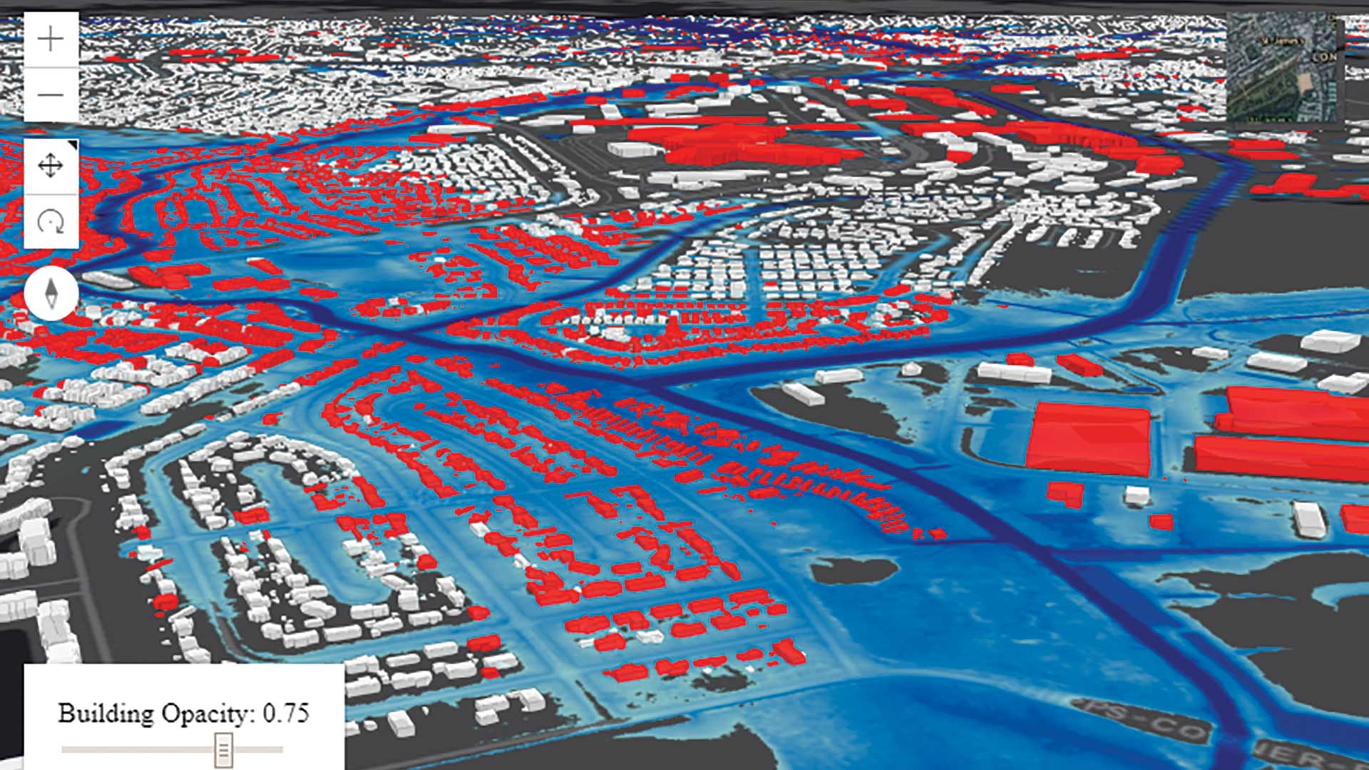 Leveraging Web 3D for Street-Level Flood Forecasts