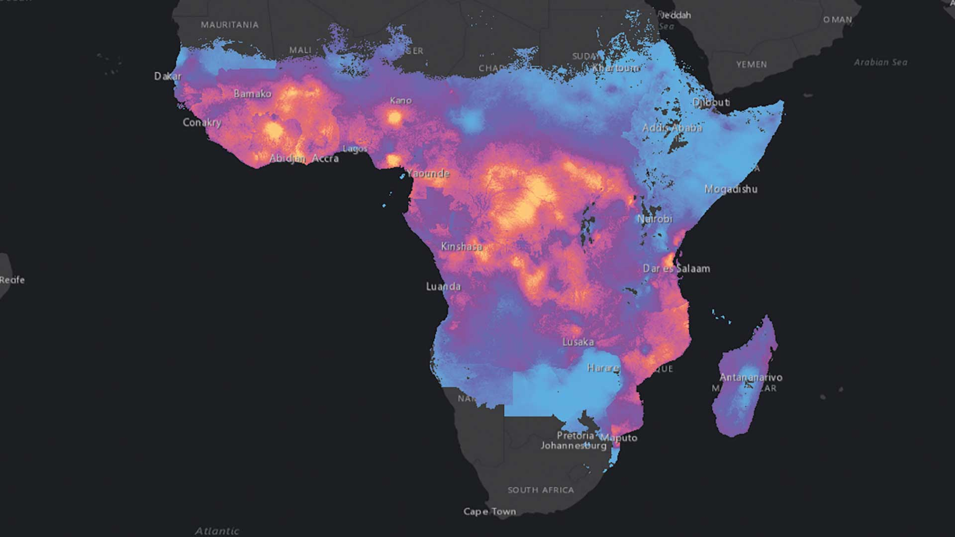 Visualize Malaria Rates in Africa