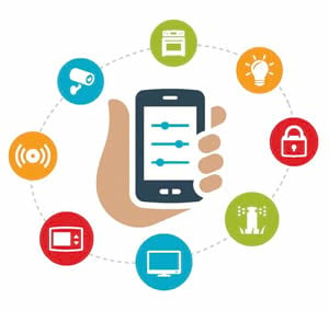 IoT at home smart device can monitor and control things such as security and lighting