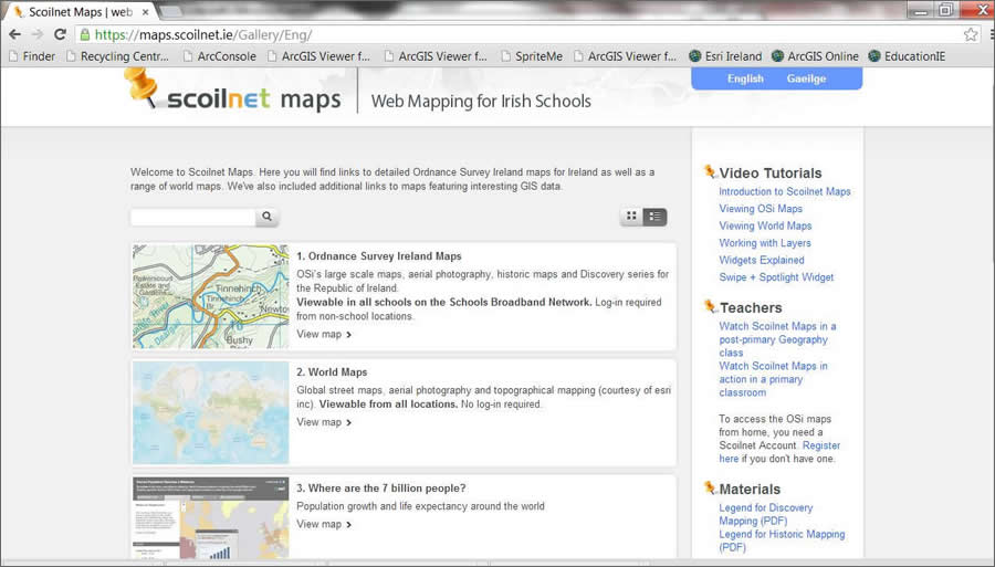Scoilnet Maps offers a selection of maps and other geographic resources for educators and their students.
