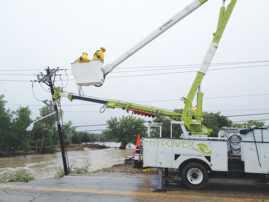 Within days of the floods, LPC crews began repairing key infrastructure.