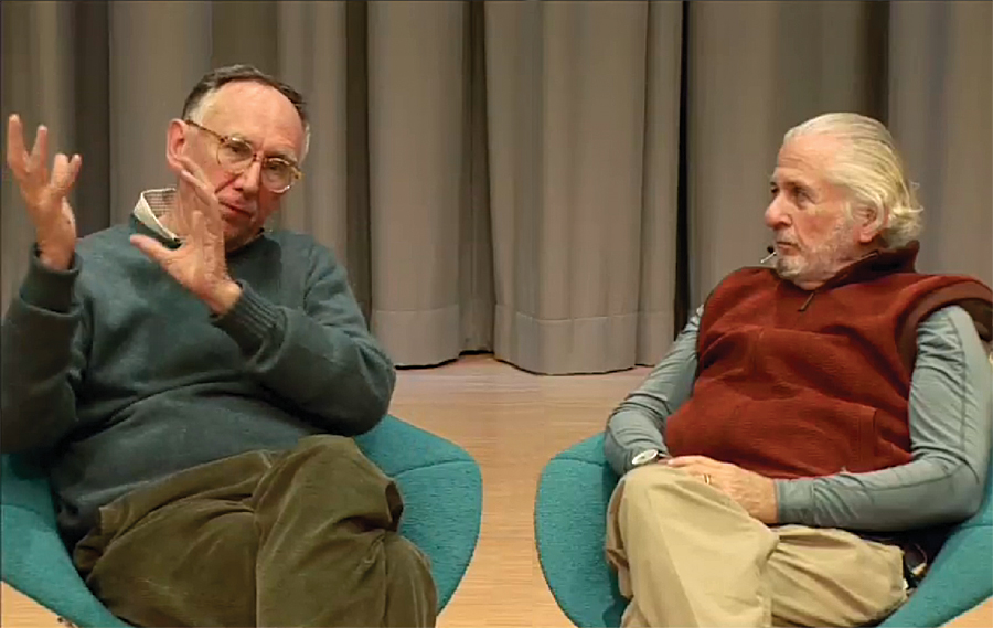 Jack Dangermond (left) and Richard Saul Wurman (right).
