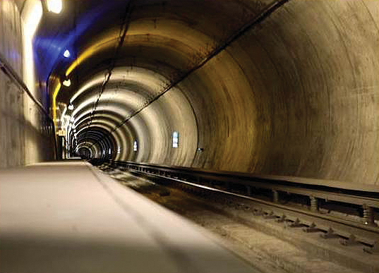 The BART network runs more than 30 miles through subways and tunnels such as the Transbay Tube.