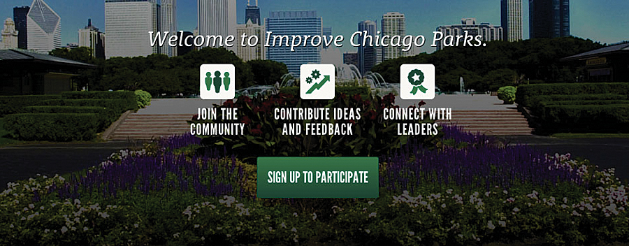 The MindMixer app integrates with Chicago's existing system to provide an interactive platform for community dialog.