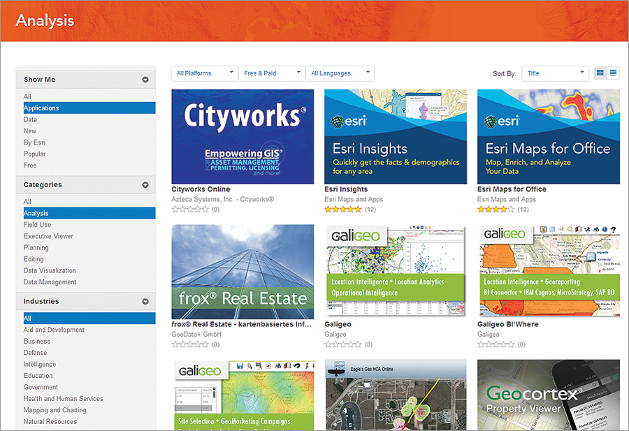 ArcGIS Marketplace Is Open for Business