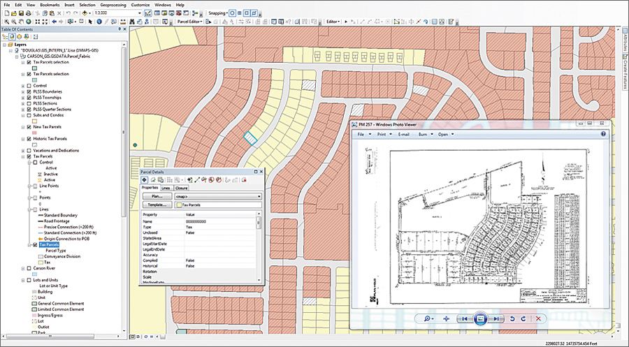 The Douglas County, Nevada, GIS team uses the ArcGIS for Land Records solution and its parcel fabric to manage parcel maps for itself and other city and county governments it serves, including historic Carson City, Nevada.