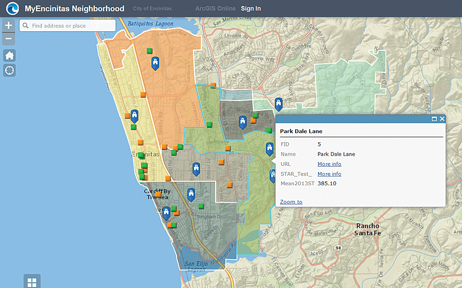 Web AppBuilder for ArcGIS makes it easy to configure responsive apps without writing any code.
