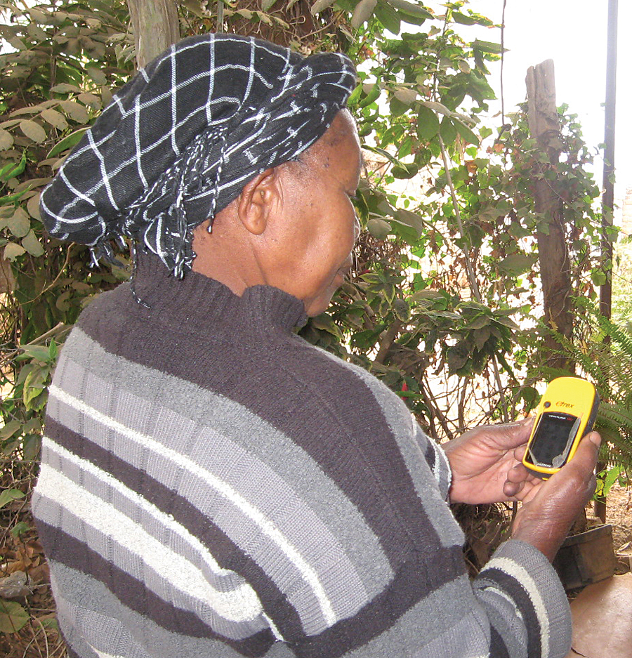 Using a handheld GPS, volunteers collected coordinates marking the location for each survey form that was filled out.